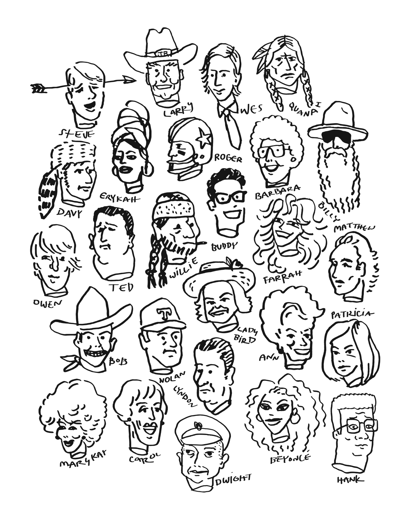 Howdy Doodles Coloring Book Water Witchers Heads Of State 2 1